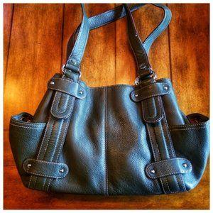 TIGNANELLO green Perfect studded shopper purse